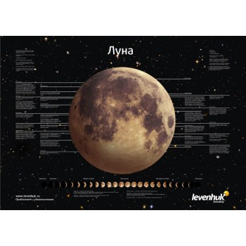 """Постер Levenhuk """"Луна"""""""