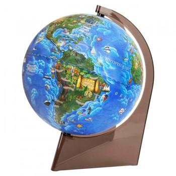 Глобус Земли для детей, диаметром 210 мм, на треугольной подставке