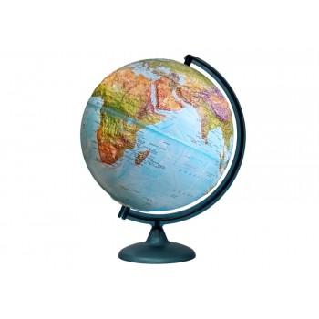 Глобус «Двойная карта» рельефный диаметром 320 мм, с подсветкой