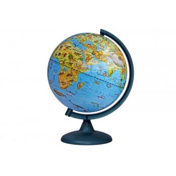 Глобус зоогеографический диаметром 250 мм