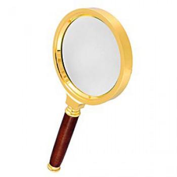 Лупа Kromatech ручная круглая 6х, 80 мм, в золотистой оправе