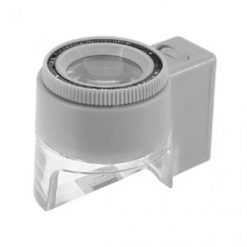 Лупа Kromatech часовая контактная 8х, 23 мм, измерительная, с подсветкой (1 LED) MG13100-2