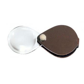 Лупа складная двояковыпуклая Eschenbach Classic 3,5x, 50 мм, темно-коричневый чехол