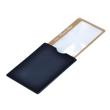 Лупа-закладка Kenko Premium 3х, 41x73 мм, с чехлом со стопором, золотистая (KLT-015)