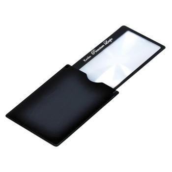 Лупа-закладка Kenko Premium 3х, 41x73 мм, с чехлом со стопором, черная (KLT-015)