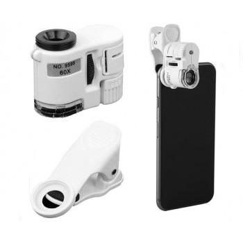 Микроскоп Kromatech 60x мини, с подсветкой (1 LED) и ультрафиолетом (9595W)