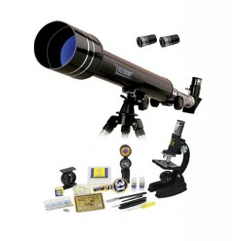 Набор Eastcolight: телескоп 50/500 и микроскоп 100-1000x в подарочном кейсе, 84 аксессуара в комплекте