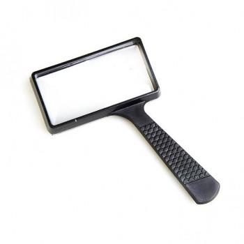 Лупа с ручкой Veber 10050, 2x-4x, 100x50 мм