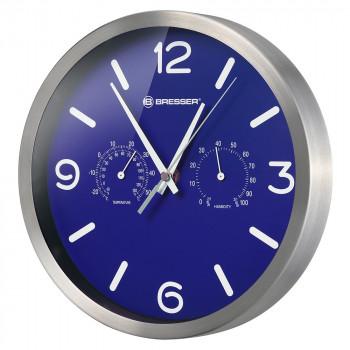 Часы настенные Bresser MyTime ND DCF Thermo/Hygro, 25 см, синие